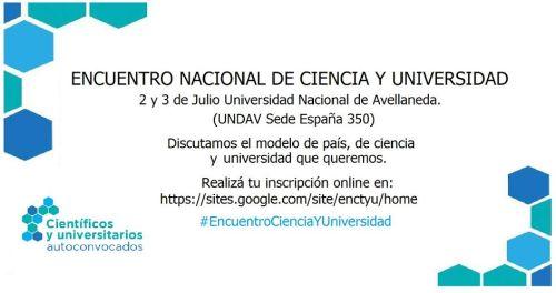 Encuentro Nacional de Ciencia y Universidad